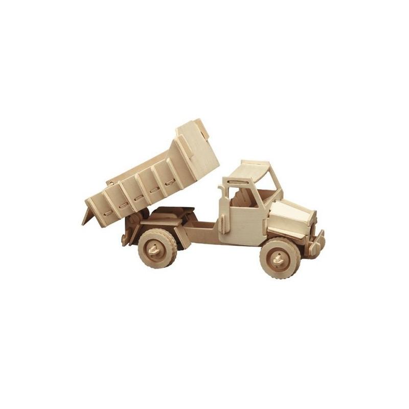 Puzzle en bois : camion à benne basculante