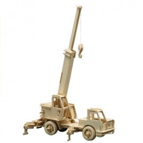 Puzzle en bois : camion-Grue