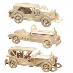 3 Puzzles à monter : 3 voitures anciennes