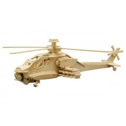 Puzzle en bois : L'hélicoptère Apache