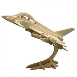 Puzzle en bois : L'avion de chasse Eurofighter