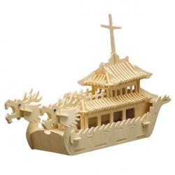Puzzle en bois : Le bateau dragon