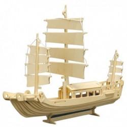 Puzzle en bois : Le bateau chinois