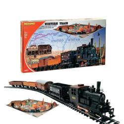 Coffret de Train Western, livré avec décor