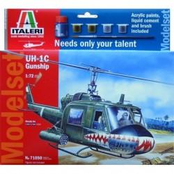 Kit Helicoptère Huey avec colle et peinture