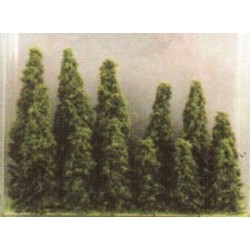 Boite de 12 sapins vert clair 3x12 3x9 3x7 et 3x5cm