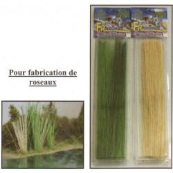 Boite de fibres roseau de 20cm de long vert