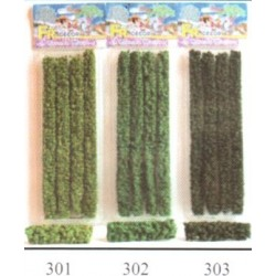 4 haies de 20cm vert moyen