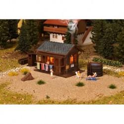 HO Sauna, accessoires et éclairage (sans figurines)