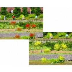 100 touffes d'herbes jaunes/rouges - 6 mm