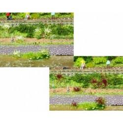 100 touffes fleuries lilas/blancs - 6 mm