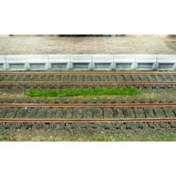10 bandes d'herbes vert foncé - longueur 100 mm