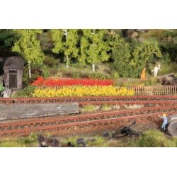 8 bandes d'herbes jaunes/rouges - longueur 100 mm