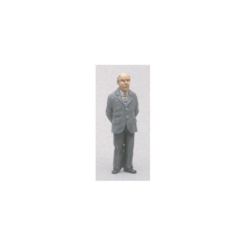 Le prof ou homme en costume (figurine non peinte)