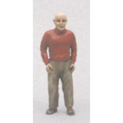 Homme pull col roulé (figurine non peinte)