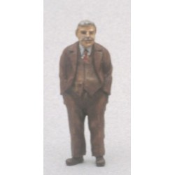 Homme en costume (figurine non peinte)