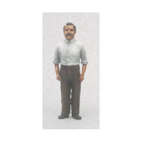 Vendeur ou serveur en tenue (figurine non peinte)