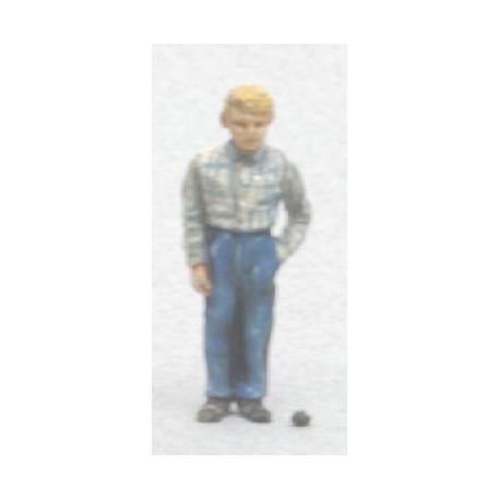 Freddy ado avec grenouille (figurine non peinte)