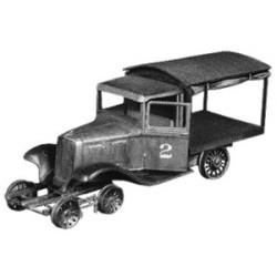 Voiture sur rail - Kit en métal blanc