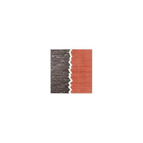 sachet de 4 imitations de mur en pierre de taille. Black Bedroom Furniture Sets. Home Design Ideas