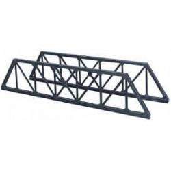HO/ 1 paire de côtés de pont ferroviaire en poutres métalliques