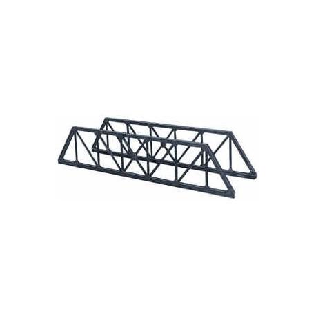 1 paire de côtés de pont ferroviaire en poutres métalliques