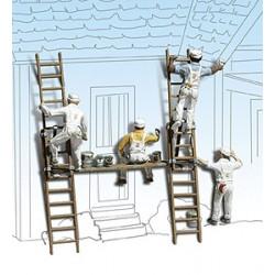 Échelle HO : Peintres en batiment