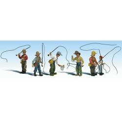 Échelle HO : Scène de pêche à la mouche