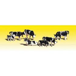 Echelle 0 : Vaches Holstein - 5 vaches et 2 veaux
