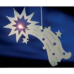 Sujet étoile lumineux en bois