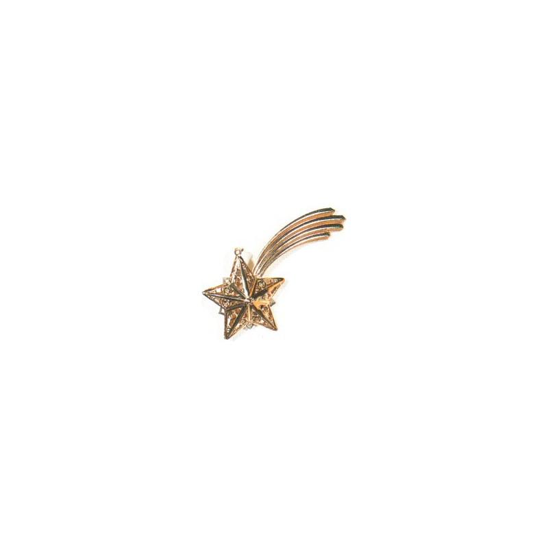 Comète en métal doré 93x46mm