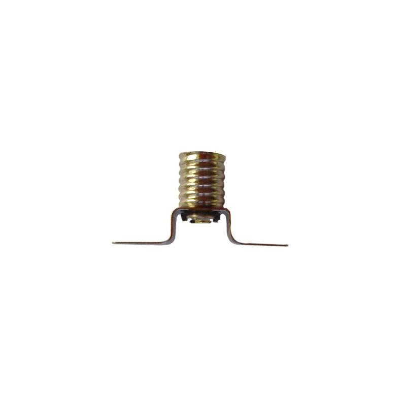 Douille avec 2 cosses à souder pour ampoules à culot E10