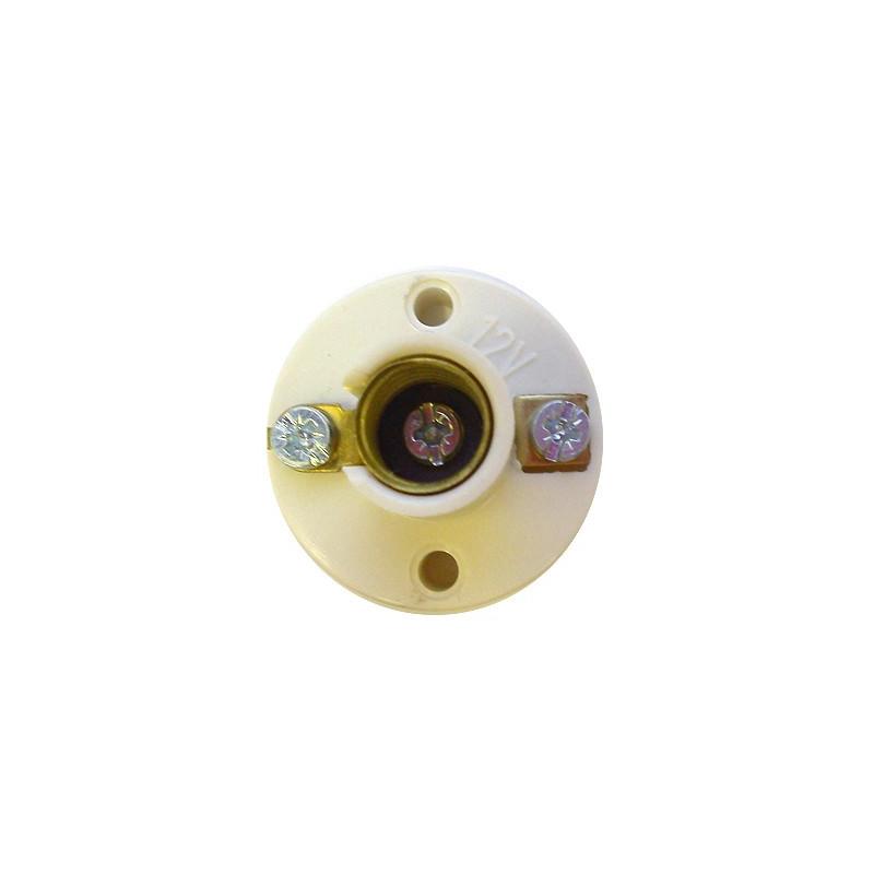 Douille avec socle à visser pour ampoule à culot E10