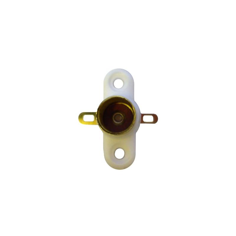 Douille avec 2 cosses à souder pour ampoule à culot E10
