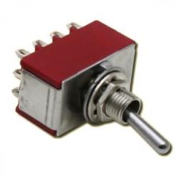 Interrupteur à 3 positions M/A/M - 4 pôles