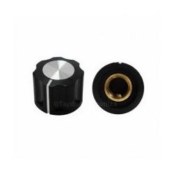1 Bouton noir ou blanc à vis pour axes de potentiomètre