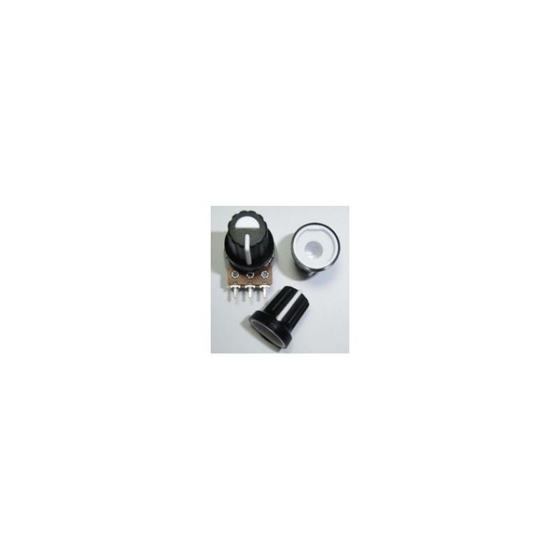 Bouton noir ou blanc pour axes de pot à crans