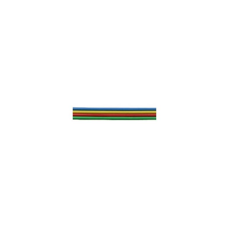Câble méplat souple à 8 fils de couleur - 10m