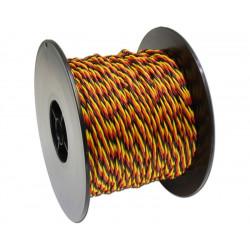 Câble MPX 3x0,5mm2 jaune rouge noir - Au mètre