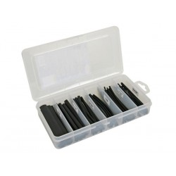 Coffret de tubes thermorétractables noirs 170 pcs