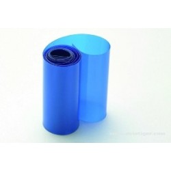 Gaine Thermo 91mm - 1 mètre bleu transparent