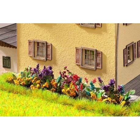 HO/ Laser-Cut Jardin fleuri