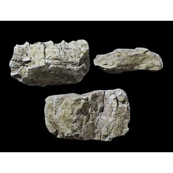 Moule pour morceaux de 3 blocs de roche