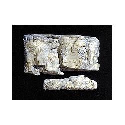 Moule pour 2 blocs de roche rectangulaires