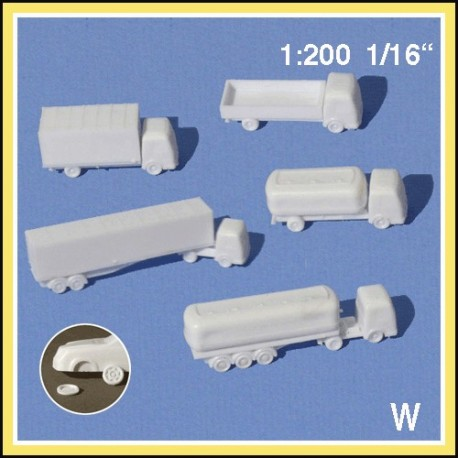 5 Camions blancs 1:200