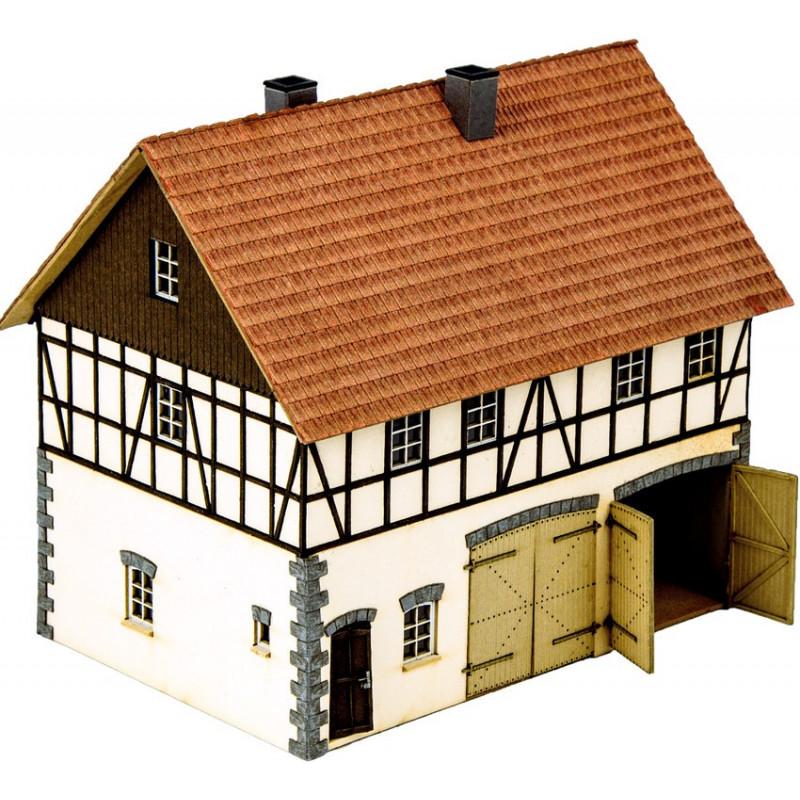 HO/ Laser-Cut Grande ferme Franz Fuhrmann & Co
