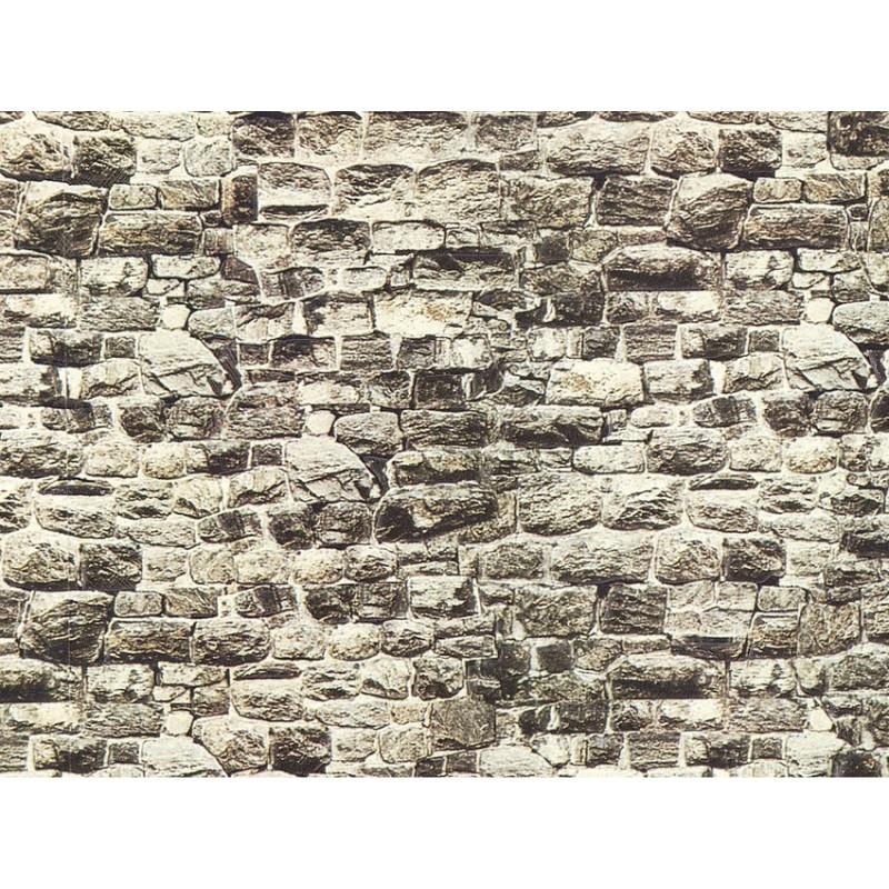 HO/ Mur Granite en carton imprimé