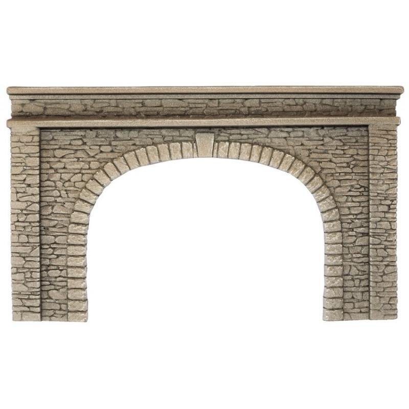 HO/ Entrée de tunnel - double voie - 22 x 13 cm