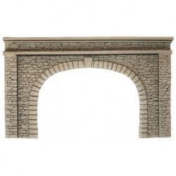 HO/ Entrée de tunnel - double voie - 21 x 14 cm