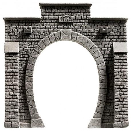 HO/ Entrée de tunnel - voie unique - 13,5 x 12,5 cm